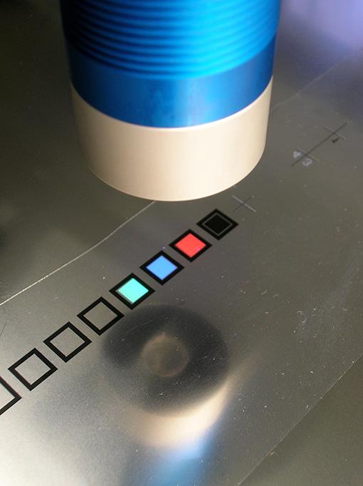 Fluoreszierende Druckmarken